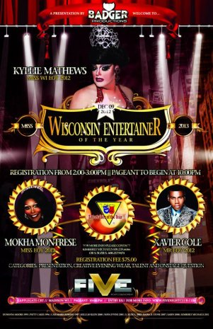 Show Ad   Wisconsin Entertainer of the Year, F.I.   Five Nightclub (Madison, Wisconsin)   12/9/2012