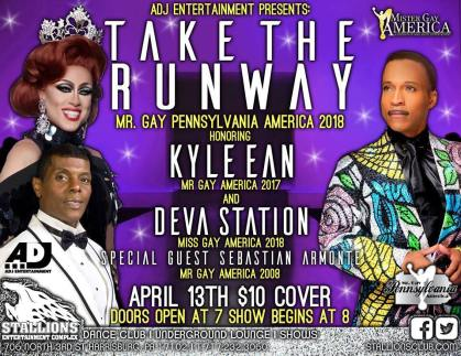 Show Ad | Mr. Gay Pennsylvania America | Stallions Entertainment Complex (Harrisburg, Pennsylvania) | 4/13/2018