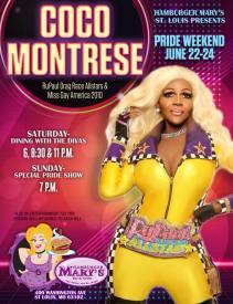 Show Ad | Coco Montrese | Hamburger Mary's (St. Louis, Missouri) | 6/22-6/24/2018