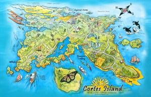 Cortes Island Map