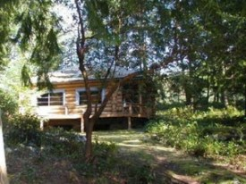 Otter Point Log House Cortes Island Accommodation