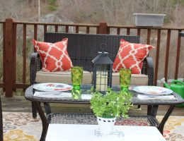 Big Lots Spring Deck Makeover