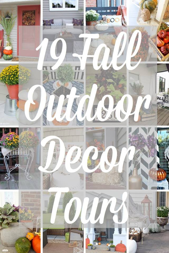 Fall Outdoor Decorating Ideas and Blog Hop Our Crafty Mom