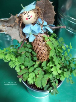 First Garden Fairy Diy Project Making Fairies From Materials Our Fairfield Fairy Garden Ideas Fairy Garden Supplies