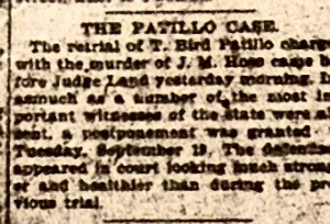 T Bird Pattillo 9-19-1899
