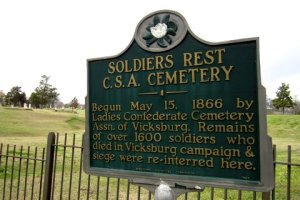Sign at Soldiers Rest Cemetery