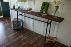 Small Of Industrial Console Table