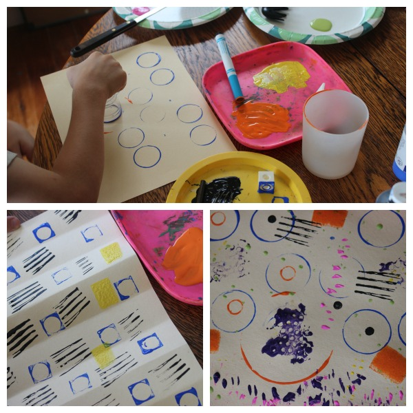 This is one of the art lessons we did in 2nd grade as we're spending the year learning about art fundamentals.