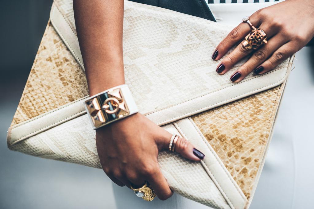 crocodile envelope clutch, envelope purse, gold jewelry, burgundy nail polish, ottawa fashion, high fashion, fashion photography