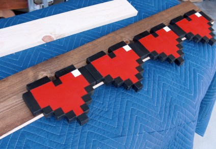 Geek Home: Zelda 8-Bit Hearts on a headboard