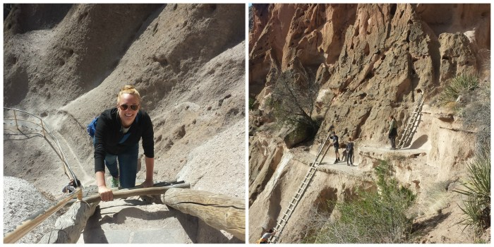 The ladders at Bandelier National Monument