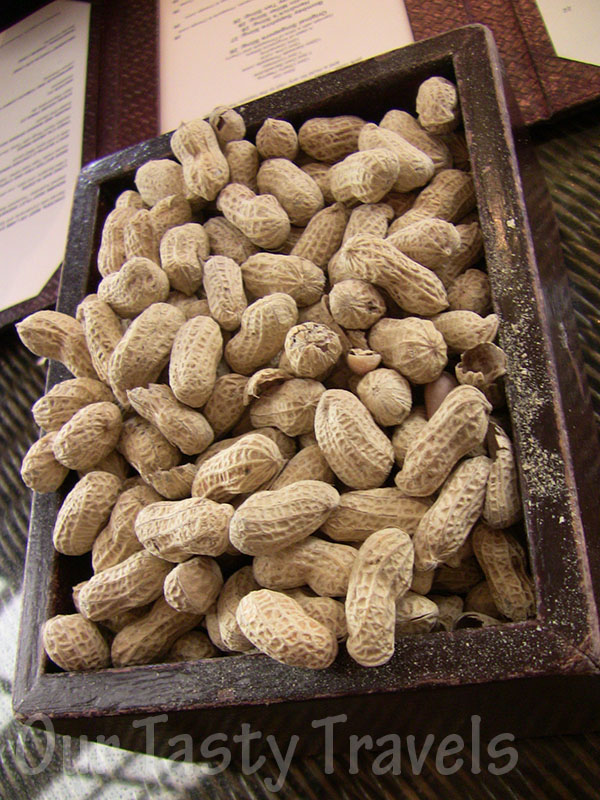 Peanuts at the Long Bar, Raffles Hotel, Singapore