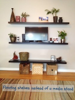 Chic More Floating Our Wee Home Floating Wall Shelves Canada Floating Wall Shelves Decorating Ideas