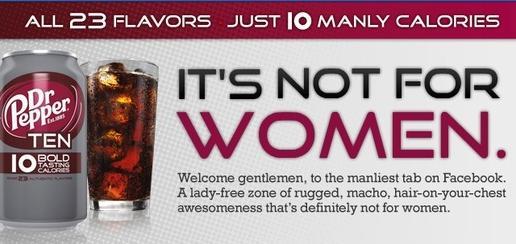 Dr. Pepper Ten Advertisement