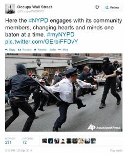 Negative reaction to #myNYPD