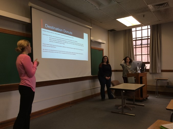 Allie Wetzel, Kate Kendall and Jenna Fisher make their Tapping Trends pitch for Destination Donuts