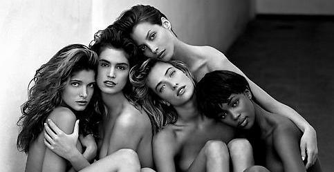1/3/14 O&A Reposted: Herb Ritts – Stephanie, Cindy, Christy, Tatjana, Naomi, Hollywood, 1989  (a video tribute)