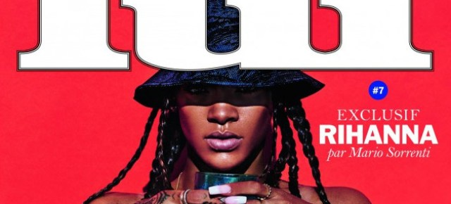 Rihanna Goes Completely Topless for the Cover of 'Lui' Magazine July 2014