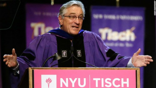 6/16/15 O&A Inspirational Tuesday: Robert De Niro New York University Tisch School of the Arts' Commencement Speech
