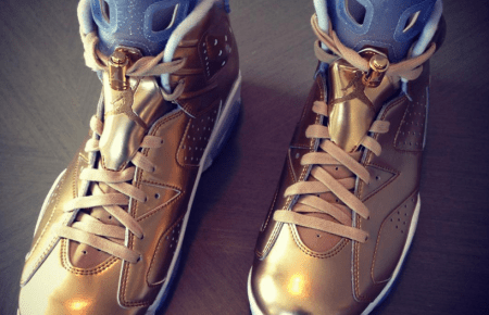 "11/16/15 O&A NYC With WaleStylez- Fashion: Spike Lee's Gold Air Jordan 6 ""Oscars Edition"""