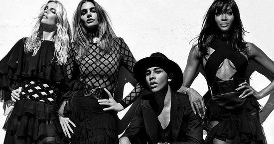 1/12/16 O&A NYC With WaleStylez EXCLUSIVE: Preview Balmain Spring 2016 Photo Campaign featuring Naomi Cambell, Cindy Crawford and Claudia Schiffer