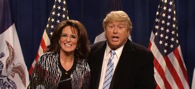 1/24/16 O&A NYC COMEDY: Sarah Palin Endorses Trump- Saturday Night Live