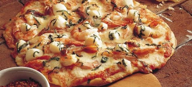 2/3/16 O&A NYC FOOD FOR YOUR SUPER BOWL PARTY: Super Bowl Seafood Pizza