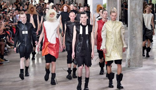 2/28/16 O&A NYC ITS SATURDAY- ANYTHING GOES: Rick Owens- Spring/Summer Menswear 2016
