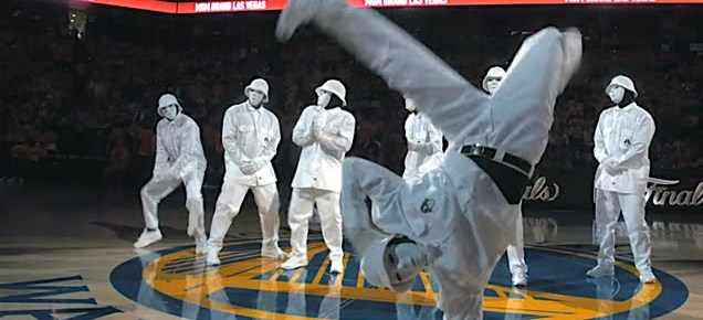 7/22/16 O&A NYC SHALL WE DANCE FRIDAY: New Jabbawockeez 2016 at NBA Finals