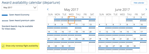 Nearly every day in May and June 2017 has availability