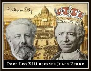Pope Leo III blesses Jules Verne