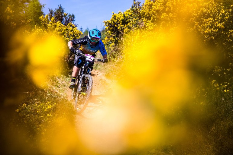 vom Canyon Factory Racing Team: Ines Thoma hochkonzentriert