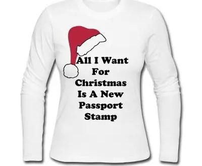 travel christmas t-shirt