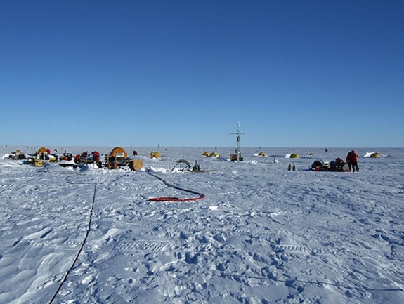 Courtesy Tim Stanton/NPS Research location on Pine Island where researchers investigate deep warming waters.