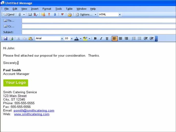 phone message template for outlook 2010