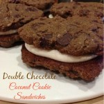 Double Chocolate Coconut Cookie Sandwiches