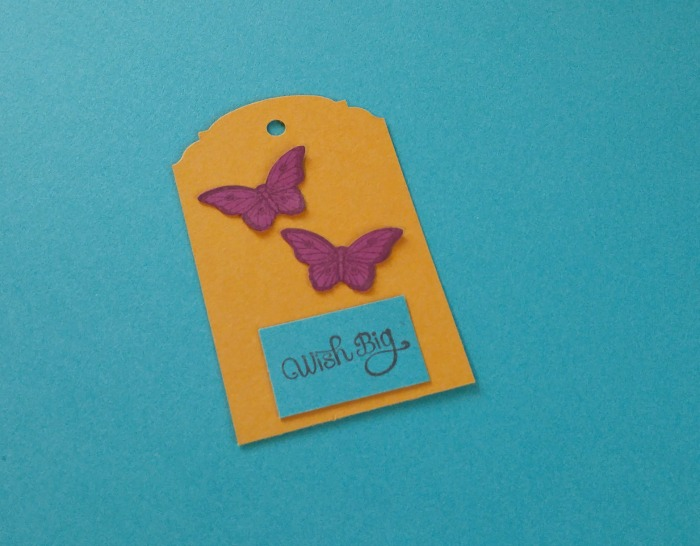 Wish Big Butterfly Tag