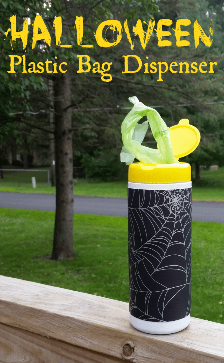 DIY Halloween Plastic Bag Dispenser & Lysol Giveaway!