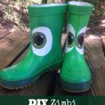DIY Zimbi Paintable Rain Rubber Boots
