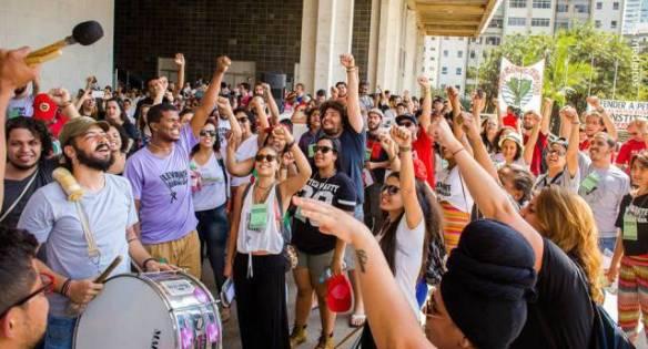 Cerca de mil ativistas discutiram a próxima etapa da Campanha pela Constituinte (Isis Medeiros/Jornalistas Livres)