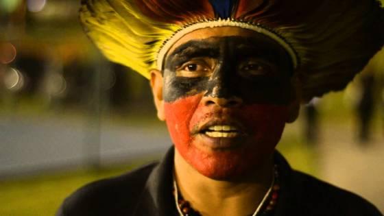 Liderença dos Terena do Mato Grosso do Sul denuncia, em 2013, assassinato de integrante da etnia, em reintegração de posse executada pela polícia