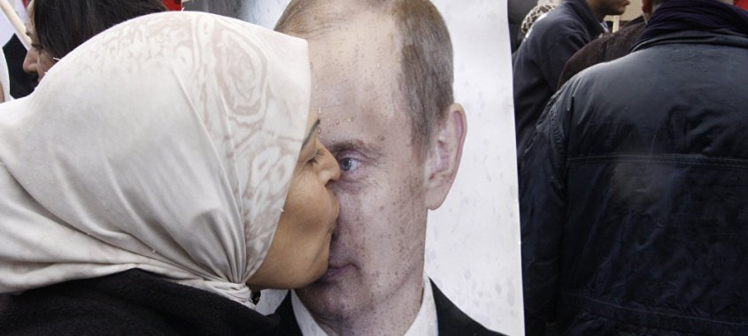 Povo sírio transforma Vladimir Putin em ídolo