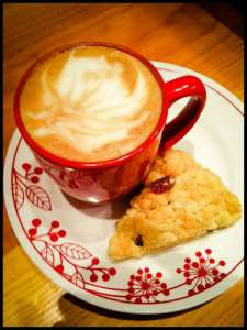 Giveaway of Sierra Mountain Coffee Roasters Latte and a Scone
