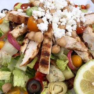 Greek salad, salad, chicken, chicken salad, Greek food