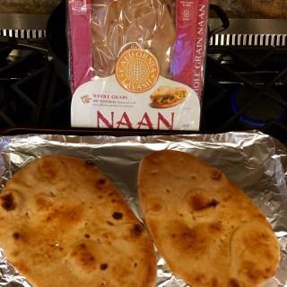 Whole grain naan or flatbread