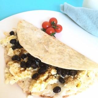 breakfast, wrap, eggs, beans