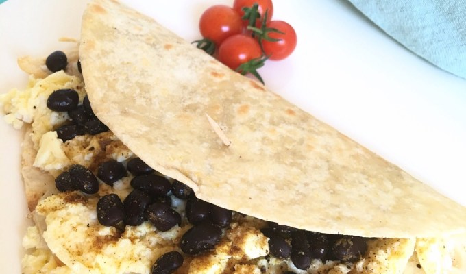 Fast and Easy Protein Packed Breakfast Wraps