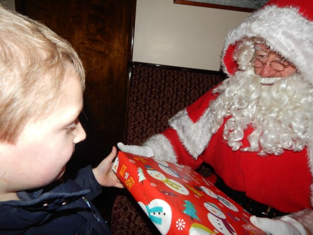 Meeting Thomas and Father Christmas