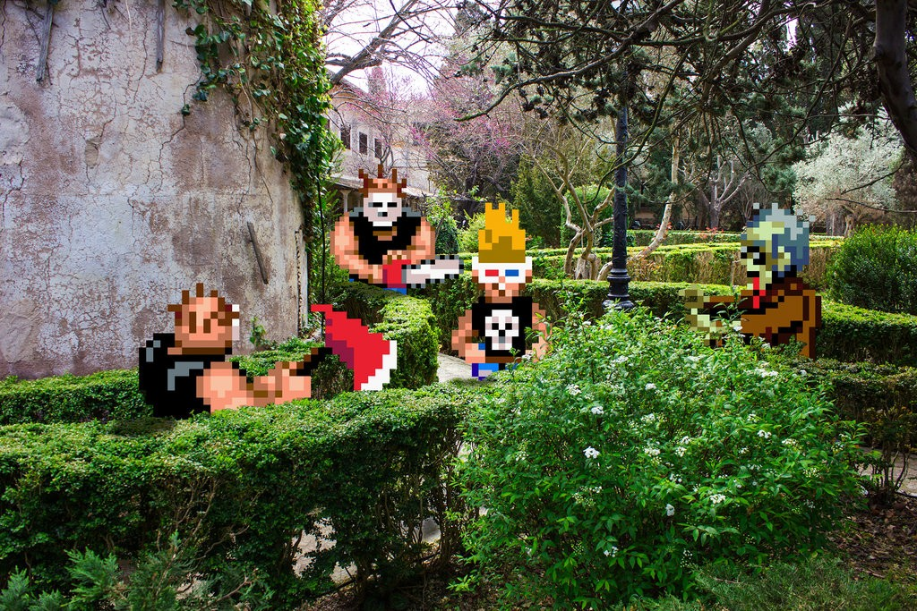 real_bits___zombies_ate_my_neighbors__garden_by_victorsauron-d60zfnn
