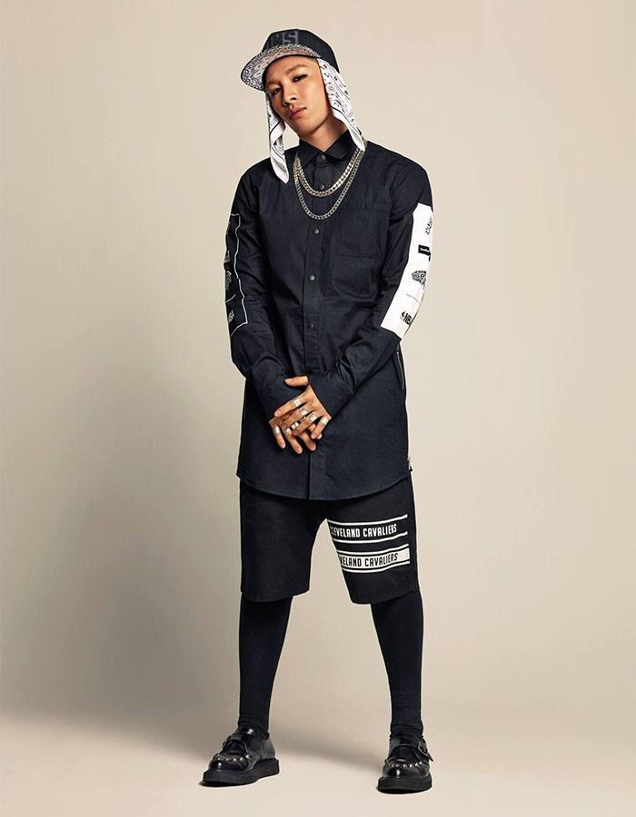 結合嘻哈元素與 all black 層次 – 韓式 swag 風格